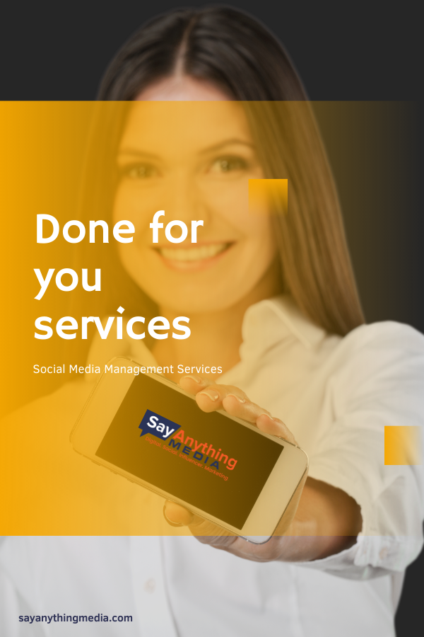 Social media management services from say anything media